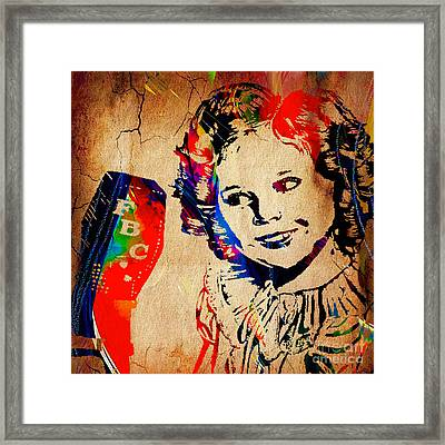 Shirley Temple Collection Framed Print