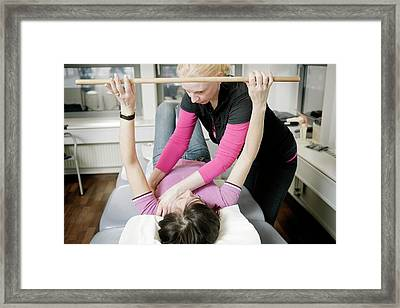 Shoulder Physiotherapy Framed Print by Thomas Fredberg