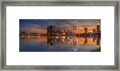 Singapore City Framed Print by Anek Suwannaphoom