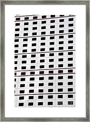 skyscraper windows background in Hong Kong  Framed Print by IB Photography