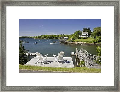 South Bristol On The Coast Of Maine Framed Print by Keith Webber Jr