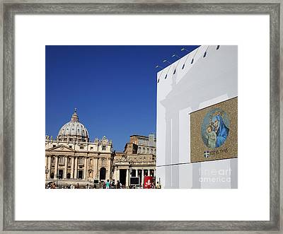 St Peter's Square. Vatican City. Rome. Lazio. Italy. Europe  Framed Print by Bernard Jaubert