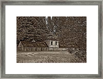 5 Star Barn Monochrome Framed Print by Steve Harrington