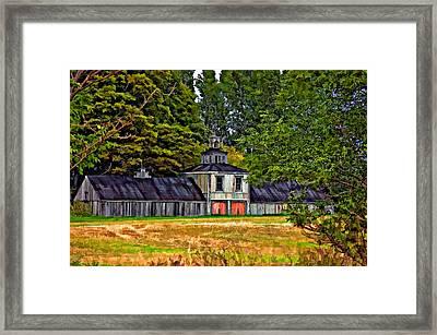 5 Star Barn Paint Filter Framed Print by Steve Harrington
