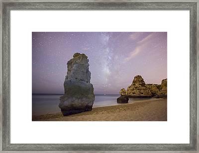 Starry Sky At Praia Da Marinha Framed Print by Andre Goncalves
