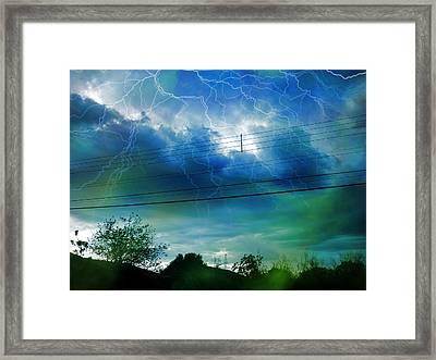 Storm Framed Print by Beto Machado