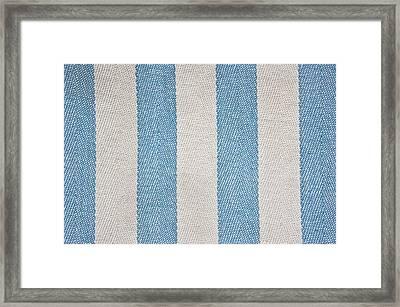 Striped Material Framed Print