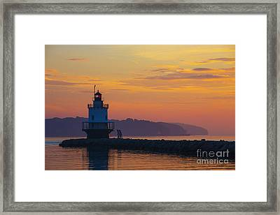 Sunrise At Spring Point Lighthouse Framed Print by Diane Diederich