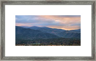 Sunrise In Cades Cove Framed Print by Dan Sproul