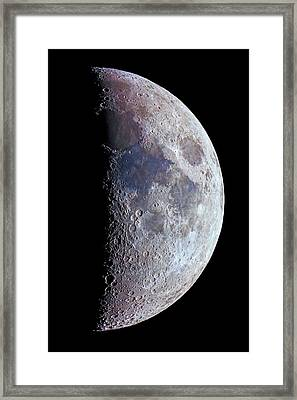 Surface Of The Moon Framed Print