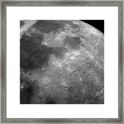 Surface Of The Moon Framed Print by Detlev Van Ravenswaay