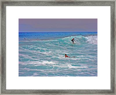 Surfing. Canary Islands. Framed Print by Andy Za
