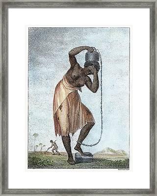 Surinam Punishment, 1796 Framed Print by Granger
