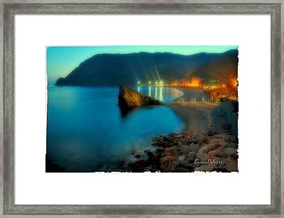 5 Terre Monterosso Beach In Passeggiate A Levante Framed Print