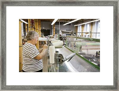 Textile Mill Loom Operator Framed Print