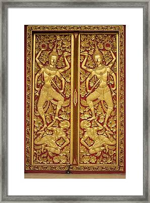 Thailand, Chiang Mai Province, Wat Phra Framed Print