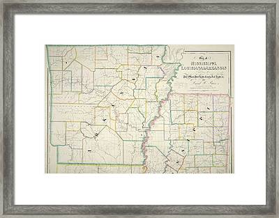 Louisiana Map Framed Art Prints Page 4 of 13 Fine Art America