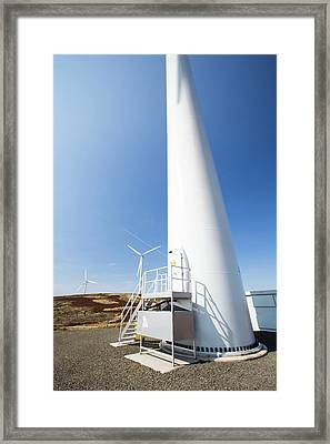 The Clyde Windfarm Framed Print by Ashley Cooper