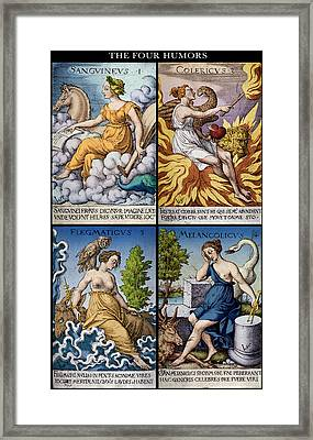 The Four Humors Of Hippocratic Medicine Framed Print by Science Source