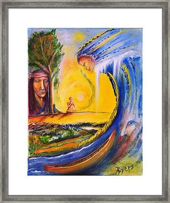 The Island Of Man Framed Print by Kicking Bear  Productions