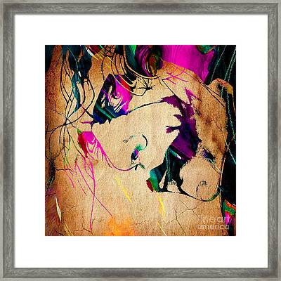 The Joker Heath Ledger Collection Framed Print