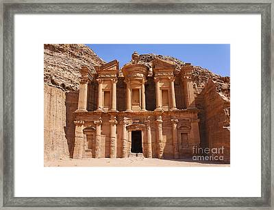 The Monastery At Petra In Jordan Framed Print by Robert Preston