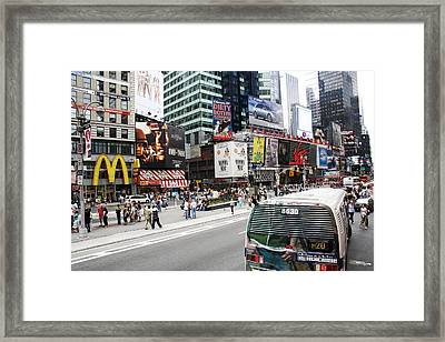 Times Square Framed Print by Erin Cadigan