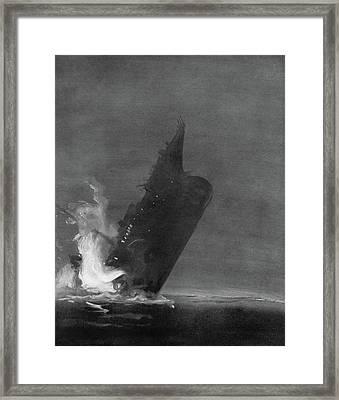 Titanic Sinking, 1912 Framed Print
