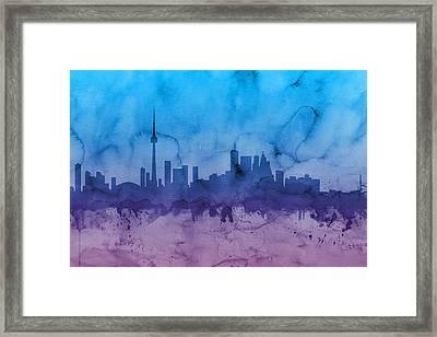Toronto Canada Skyline Framed Print
