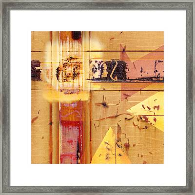 Train Art Abstract Framed Print