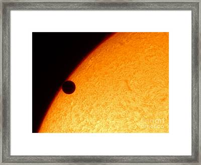 Transit Of Venus, June 5, 2012 Framed Print