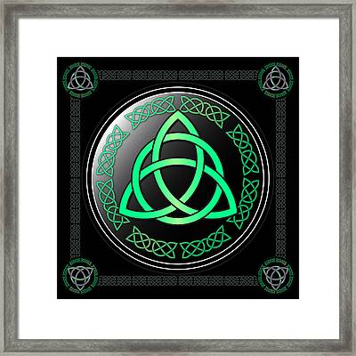 Triquetra Framed Print by Ireland Calling