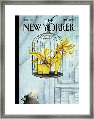 New Yorker September 1st, 2008 Framed Print