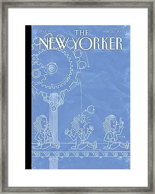New Yorker May 20th, 2013 Framed Print by Christoph Niemann