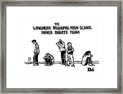 The Langmore Regional High School Inner Debate Framed Print