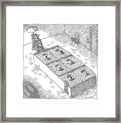 Captionless; Paper Cubicles Framed Print