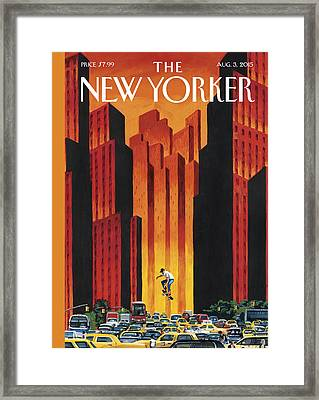 New Yorker August 3rd, 2015 Framed Print by Mark Ulriksen