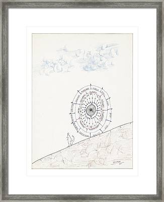 Sketchbook By Saul Steinberg Framed Print by Saul Steinberg