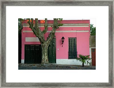 Uruguay Colonia Del Sacramento Barrio Framed Print