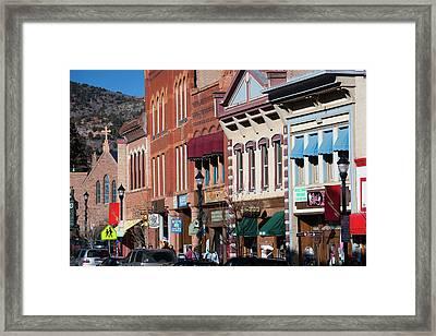Usa, Colorado, Manitou Springs, Manitou Framed Print