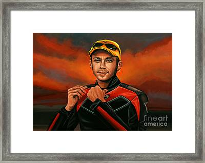 Valentino Rossi  Framed Print by Paul Meijering