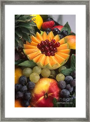 Variety Of Fruits. Framed Print by Bernard Jaubert