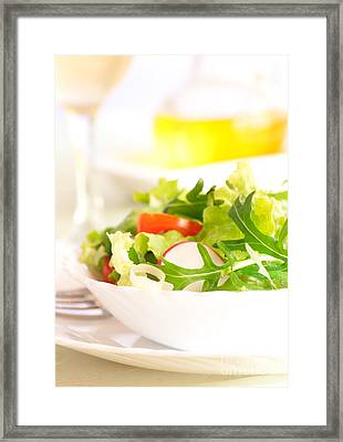Vegetable Salad Framed Print