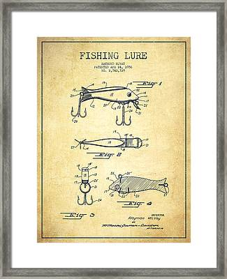 Vintage Fishing Lure Patent Drawing From 1956 Framed Print