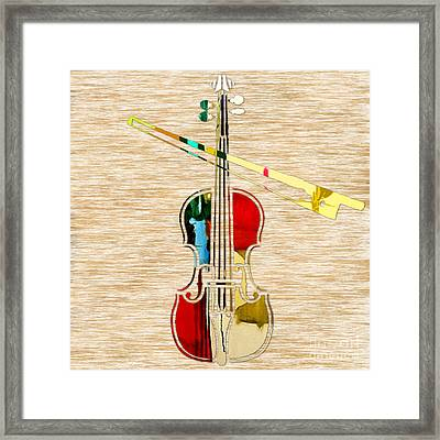 Violin Framed Print by Marvin Blaine