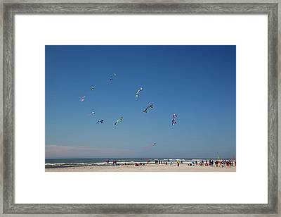 Wa, Long Beach, International Kite Framed Print by Jamie and Judy Wild