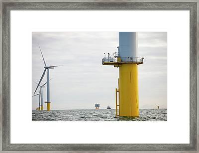 Walney Offshore Windfarm Framed Print by Ashley Cooper