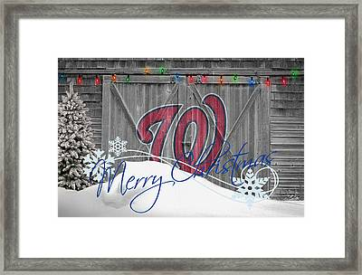 Washington Nationals Framed Print by Joe Hamilton