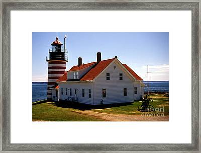 West Quoddy Lighthouse Framed Print by Skip Willits