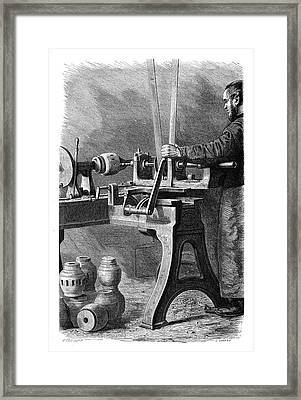 Wheel Manufacturing Framed Print by Science Photo Library